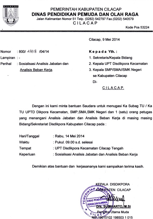 surat undangan sosialisasi ANJAB & ABK