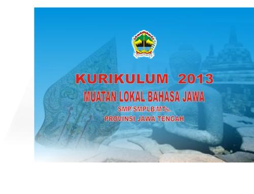 Sertifikasi Kurikulum 2013 Bahasa Jawa