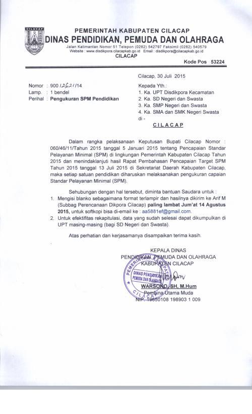 Surat SPM Pendidikan 2015